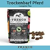 Fresco Hundefutter getreidefrei Trockenfutter für alle Hunde Viel Fleisch Barf artgerecht & unkompliziert Trockenbarf Complete Plus Pferd 1kg