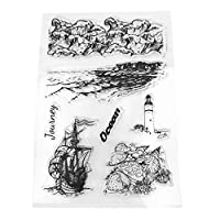 YFairy - Clear Stamp, Sailing Boat, Lighthouse, Silicone, Clear Seal Stamp, DIY, Scrapbooking, Embossing Photo Album Decorative, Paper Card Craft, Art Handmade Gift