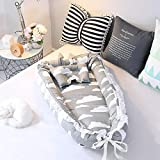 BABY NEST Ein multifunktionales, Windeln Wickeln, tragbare waschbare Spitzenmodelle Baby Isolation Bett 90 * 55 * 15cm, 3, 90 * 55cm