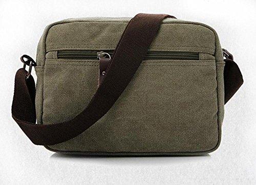 CHAOYANG-Retro lavato tela del messaggero della spalla della borsa della borsa uomini casual , khaki Green