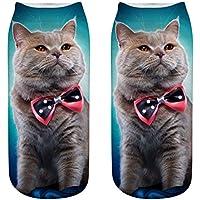 LHWY El gato imprimió los calcetines frescos locos sublimados 3D de los calcetines de la novedad elástico 3D para los regalos