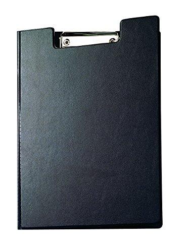 Maul Schreibmappe mit Folienüberzug, Aufklappbares Klemmbrett, Innentasche, Größe A4 hoch, Schwarz, 2339290, 1 Stück