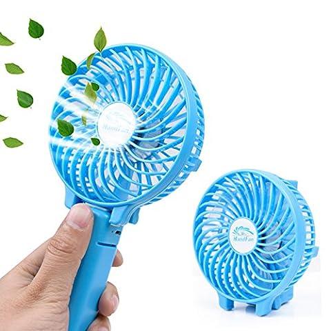 Mini Portable Pliable Fan, Funanasun rechargeable USB Parapluie Handfan de