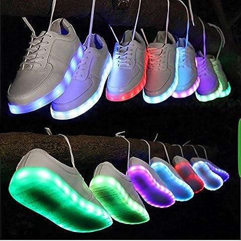 zapatos con luces led para deportivas zapatillas fluorescentes de moda marcas para mujer hombre 2015