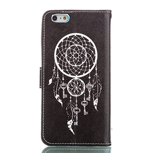 ISAKEN Custodia iPhone 6 Plus, Cover iPhone 6S Plus, Elegante borsa Custodia in Pelle Protettiva Flip Portafoglio Case Cover per Apple iPhone 6 Plus (6 5.5) / con Supporto di Stand / Carte Slot / Chi acchiappasogni key