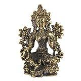 Akozon Messing kleine Buddha Statue handgefertigte geschnitzte Figur Handwerk Einrichtungsartikel