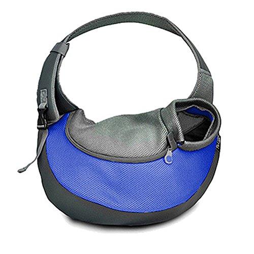 Ueetek borsa trasportino per cani e gatti da spalla con tracolla (blu)