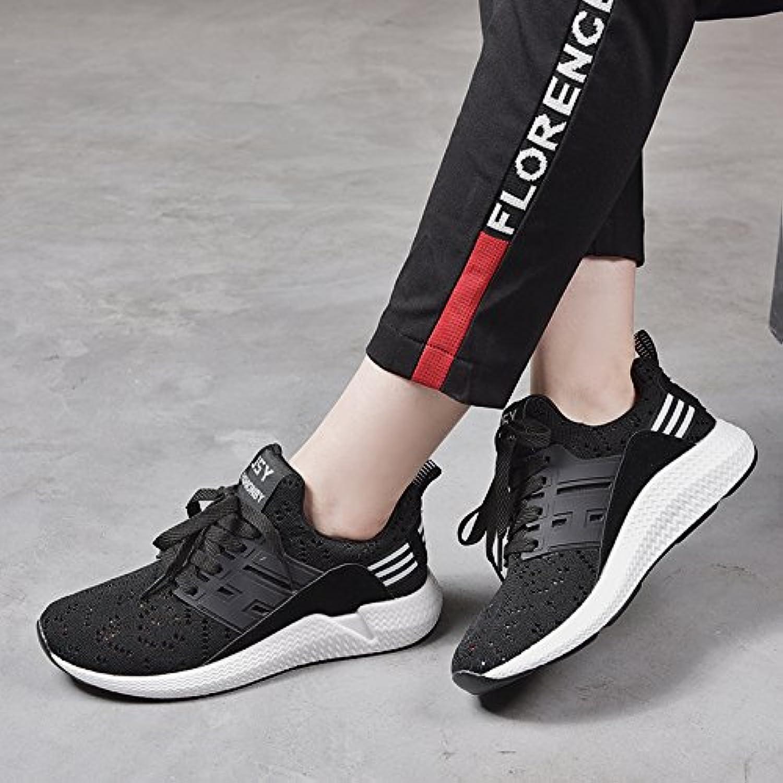 NGRDX&G Coppie Scarpe Scarpe Da Donna Scarpe Sportive Casual Scarpe Bianche Traspiranti, Nero, 39 | Fornitura sufficiente  | Uomini/Donne Scarpa