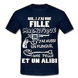 Citation Oui J'Ai Une Fille Magnifique Humour T-shirt Homme de Spreadshirt®, L, marine