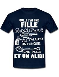 Citation Oui J'Ai Une Fille Magnifique Humour T-shirt Homme de Spreadshirt®