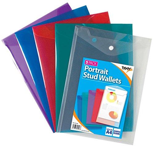 5x A45Stück Hochformat Ohrstecker Brieftaschen, verschiedene Farben, 25Geldbeutel insgesamt und 1Inspirierende Magnet