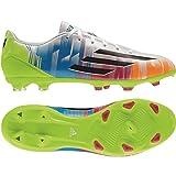 adidas Messi F10 TRX Fg Fußballschuh, Herren, - Blanc-bleu-vert-Rose-orange - Größe: 44 2/3