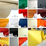 Markisen-Stoffe einfarbig WASSERDICHT UV-beständig Meterware am Stück (Nr. 1)