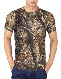 Homme Véritable Jungle Imprimé Arbre T chemises d'été Big Motif camouflage Taille chasse haut S M L XL 2x L 3x l 4x l 5x l