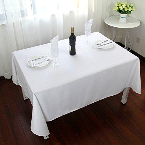 Nclon Leuchtet weiß Tischdecke, Waschbar Polyester Tischtuch tischwäsche, Ideal für Buffet-Tisch,...