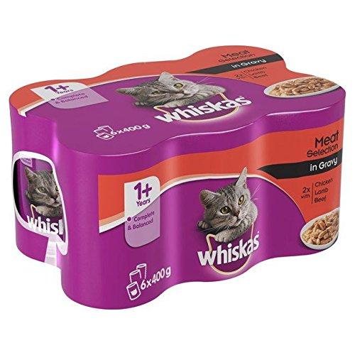 Whiskas gatto scatolette carne in salsa 6x 400g