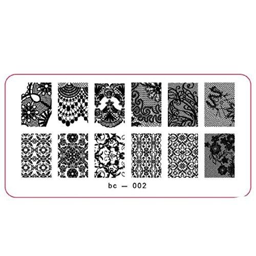 Vovotrade Nail Art Stamp image DIY Stamping Plaques Modèle Manucure(L)