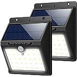 Trswyop..solarleuchten_außen????.. 2_stÜck ..33_led..superhelles_solarlampen..mit Hochglanzpoliert