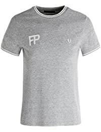 Fred Perry FP Logo T-Shirt In Twisted Steel Marl