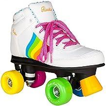 ROOKIE Forever Rainbow V2 Patines con 4 Ruedas, Unisex Niños, Blanco / Multicolor, 33