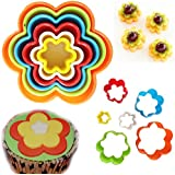 FLOWER Cookie Cutter Mould Flower Shape Different Size Biscuit Pastry Plastic Mold x 6
