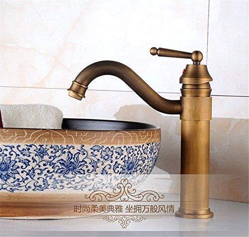 Küchenarmatur Waschtischarmatur Wasserfall Wasserhahn Bad Mischbatterie Badarmatur Waschbecken Badezimmer Retro Wasserhahn des einzelnen Bassins heißer und kalter Wasserhahn - Einzelne Wasserhahn Badezimmer Waschbecken
