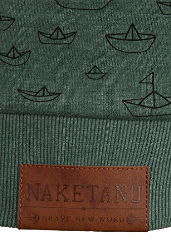 Naketano Female Hoody Stronger than ever II Pine Green Melange