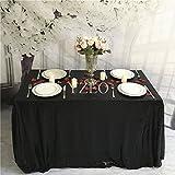 Yzeo Pailletten-Tischdecke, 152,4x 320cm, Tischdecke für Hochzeitsparty, Pailletten-Stoff, Pailletten-Tischdecke für Bankette, Events, Dekoration, Sonstige, schwarz, 90