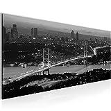 Bilder Istanbul Türkei Wandbild 100 x 40 cm Vlies - Leinwand Bild XXL Format Wandbilder Wohnzimmer Wohnung Deko Kunstdrucke Weiß 1 Teilig -100% MADE IN GERMANY - Fertig zum Aufhängen 603812c