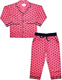 #3: ShopMozo Pink Printed Pure Cotton Unisex Night Suit Combo(Night Wear/Night Dress/Sleep Wear/Pyjama Tops Boys and Girls)