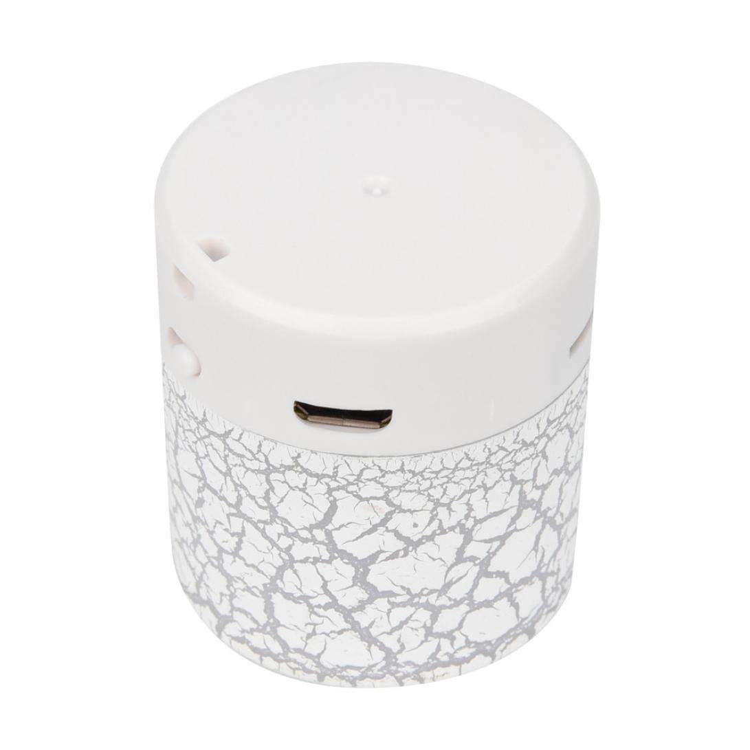 Portable mini wireless stereo Bass altoparlanti lettore musicale wireless TF speaker by Mml, White