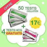 50 tests d'ovulation + 4 tests de grossesse Gratuits