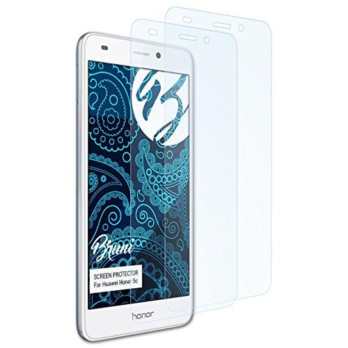 Bruni Schutzfolie für Huawei Honor 5c / Honor 7 Lite Folie, glasklare Displayschutzfolie (2X)