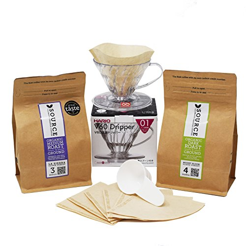 Discover Coffee - Ground / Filter Coffee & Hario Dripper Gift Box