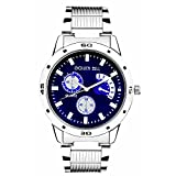 Golden Bell Original Blue Dial Steel Cha...