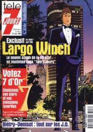 TELE 7 JOURS [No 2103] du 16/09/2000 - LARGO WINCH - BIETRY-DENISOT - LES J.O.
