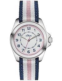 s.Oliver Mädchen-Armbanduhr Analog Quarz Textil SO-3133-LQ