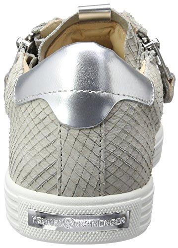 Senhoras Sneakers Schuhmanufaktur Cinza E Prata branco Único Schmenger Canil Cores Cidade Mais HSaZxUX