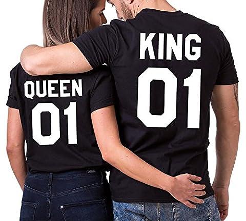 Minetom King Queen couple T-shirt Partner Look Couple Set couple