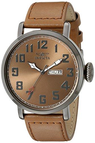 Invicta 18434 Vintage Reloj para Hombre acero inoxidable Cuarzo Esfera marrón