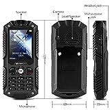 IceFox (TM) Dual Sim Outdoor Handy,2,4 Zoll Display,IP68 Wasserdicht,Stoßfest, Rugged Handy Ohne Vertrag mit Lautem Lautsprecher und Fahrradlicht - 6