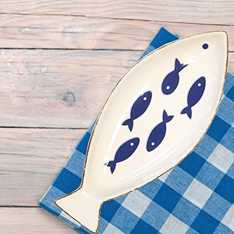 Basta Contempo 25X10CM più Nautico Pesce Rustico forma Piatto Plate