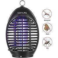 COMLIFE Lámpara Antimosquitos UV 360° Mata Insectos No Posee Químicos para Hogar, Oficina, Patio, Jardín y Camping al Aire Libre