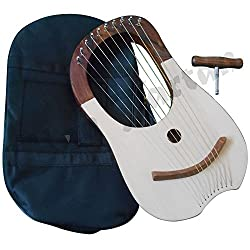 Traditional-lyre-harp-10-metal-strings-rosewood-lyra-harp-harfe-arpa-case