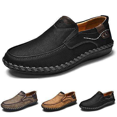 Mocassini scarpe da guida da uomo slip-on mocassini da barca in pelle casual scarpette da passeggio per pantofole