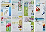 50 Grußkarten zur Kommunion Wünsche Bunt Modern Klappkarten mit Umschlägen 120-3908