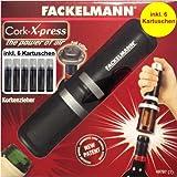 Fackelmann Korkenzieher Wein Luftdruck Cork-X-Press inkl.6xKartusche Weinöffner