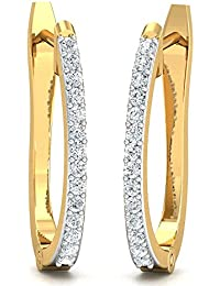 Stylori Saanchi 18k White Gold and Diamond Hoop Earrings