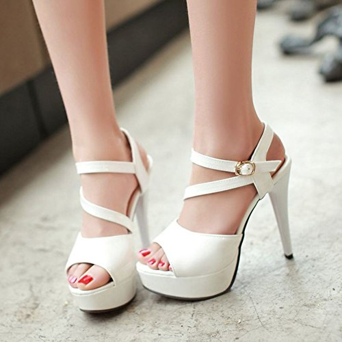 Moda scarpe tacco alto donne/ sexy Croce pesce bocca scarpe/Sandali di Joker A