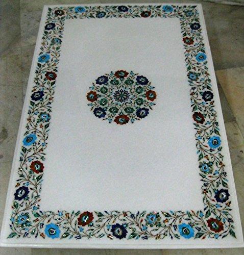114,3x 74,9cm weiß Marmor Multi Farbe Steine Inlay Muster, Konferenz Tisch Top